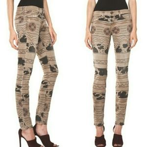 Current/Elliott// Skinny Vintage Destroyed Tribal
